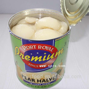 2500g/2650ml canned pear halves/slices/dices in light syrup