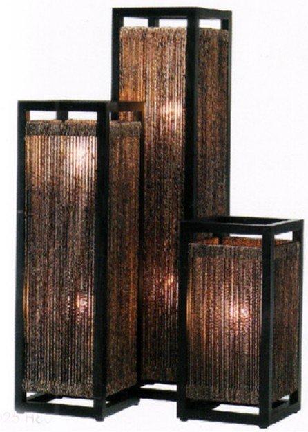 Floor Wooden Lamps With Banana Bark