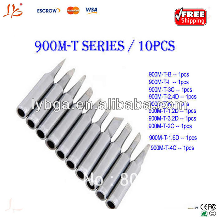 10 pcs /lot Lead-free solder Iron tip 900M-T for hakko, aoyue,soldering rework station
