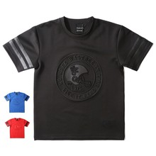 Men's fashion space cotton embossed t shirt