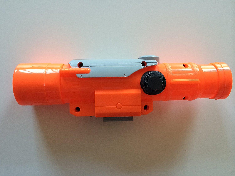 NERF N-Strike LONGSHOT CS-6 Rifle Yellow AND Orange SCOPE