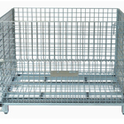 mesh box logistics storage cage with castor,net pallet with castor