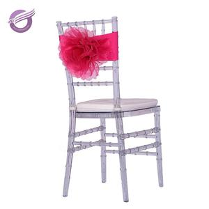 BS00168 Hot Sale Cheap Decoration red chair back flower Wedding Chair Sashes