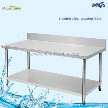 buffet table stainless steel dining table with under shelf buy