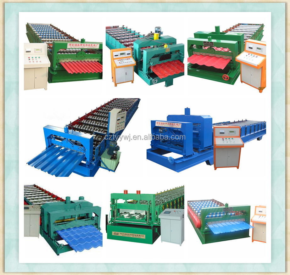 Circular Arc Glazed Tile Forming Machine,Galvanized Roofing Sheet ...