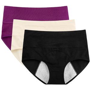 e2f058d139f High Waist Black Menstrual Leak Proof Protective Organic Cotton Underwear  Briefs Physiological Period Women Panties