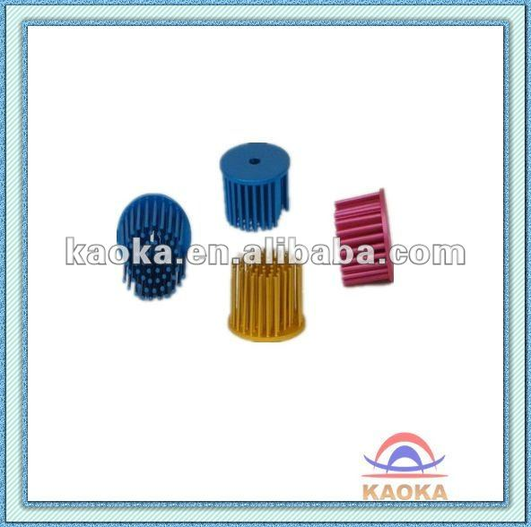 Aluminum extruded heat sink pin circular round colorful