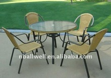 Best selling AWRF5550B new metal garden dinning table furniture from China manufaturer direct
