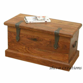 Indian Wooden Storage Trunks