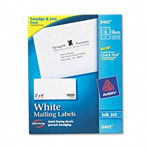 Avery : Shipping Labels with TrueBlock Technology, 2 x 4, White, 1,000 per Box -:- Sold as 2 Packs of - 100 - / - Total of 200 Each