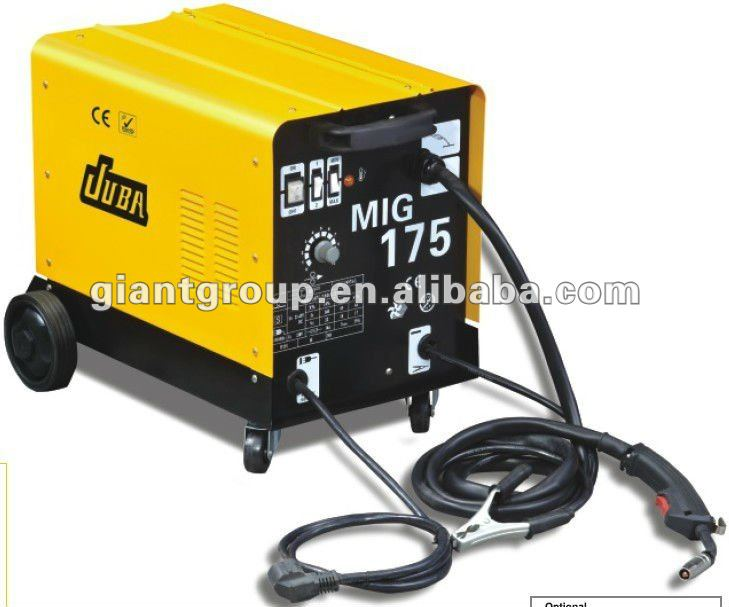 Giant Dc 110v Mig 180 Amp Welding Machine With 4 Wheels Drive ...