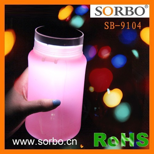 Waterproof Camping Storage Solar Lantern Bottle with USB Cable for Camping,Outages,Garden and Party