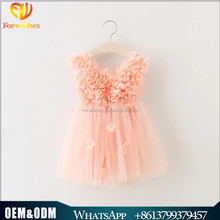 3D Flowers Girl Petals Dress Children Bridesmaid Toddler Elegant TUTU Dress Pageant Wedding Bridal Dress