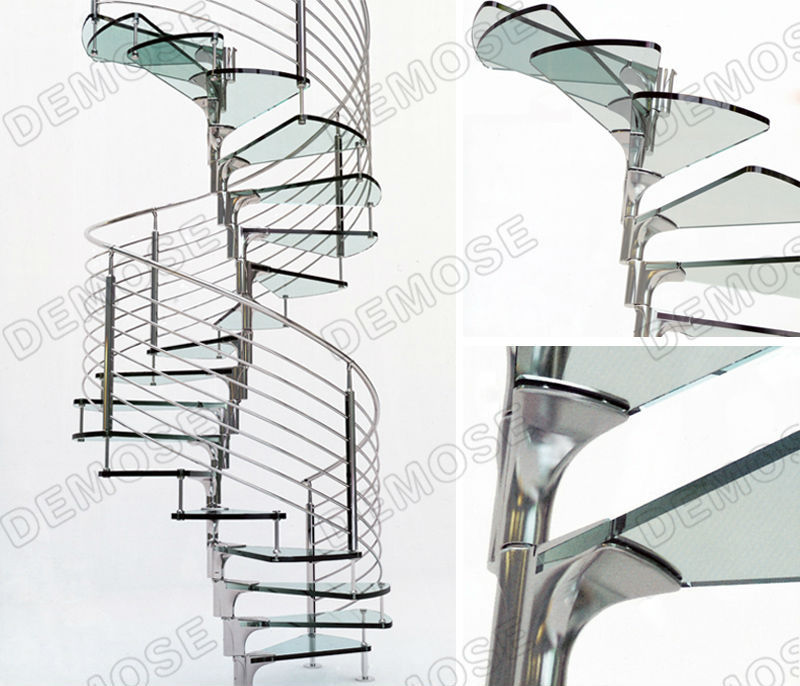 Fabricated galvanized spiral staircase design stairs for Aluminum spiral staircase prices