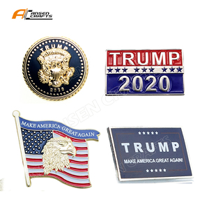 High Quality American Flag Eagle Donald Trump 2020 Keep America Great Again Pin Badge