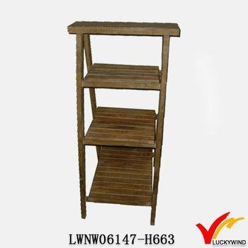 quite nice a54ae 151e2 Tier Crate Primitive Antique Wood Ladder Shelf - Buy Wood Ladder  Shelf,Folding Wood Shelf,Unfinished Wood Shelf Product on Alibaba.com