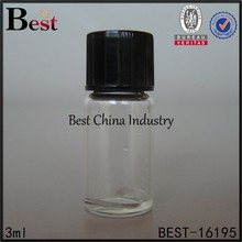 Chian 3ml clear essence oil glass bottles , clear sample oil bottle, Alibaba China