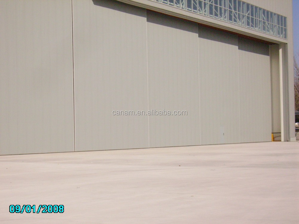 2017 Low cost automatic sliding aircraft hangar door