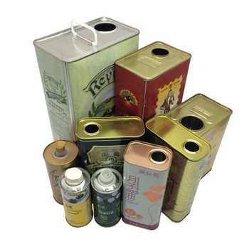custom print olive oil tin cans 1 liter cooking oil tin containers 1 gallon oil tin can packing