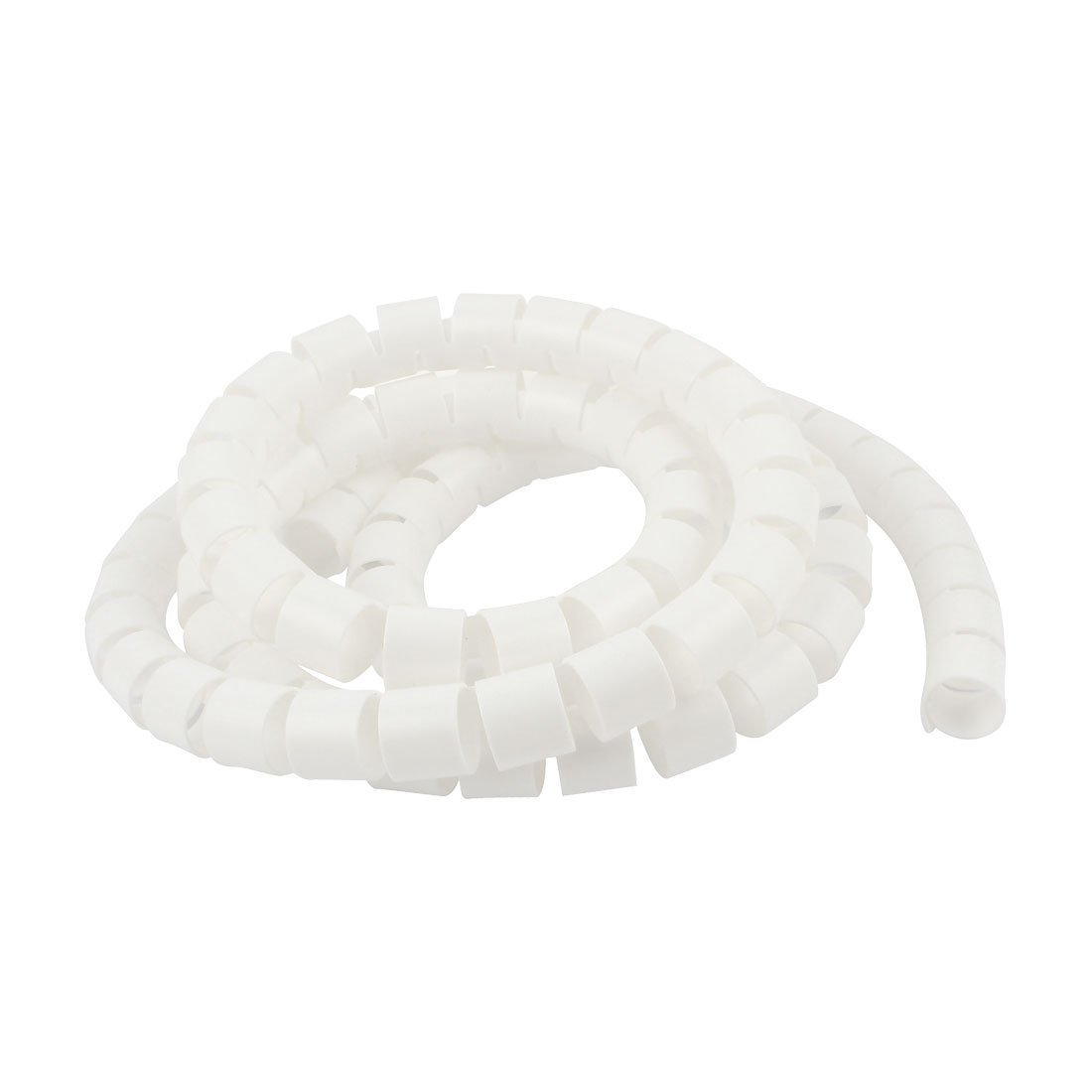 Wire Wrap Tube - SODIAL(R) Spiral Tube Cable Wire Wrap Computer Cord Management 25mmx2M White