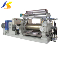 Factory price open type two roll Rubber Mixing Mill with stock blender