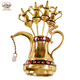 High quality custom teapot shaped golden Chinese pen holder