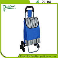 Promotional Three Wheels Foldable Shopping Cart For Climbing Stair