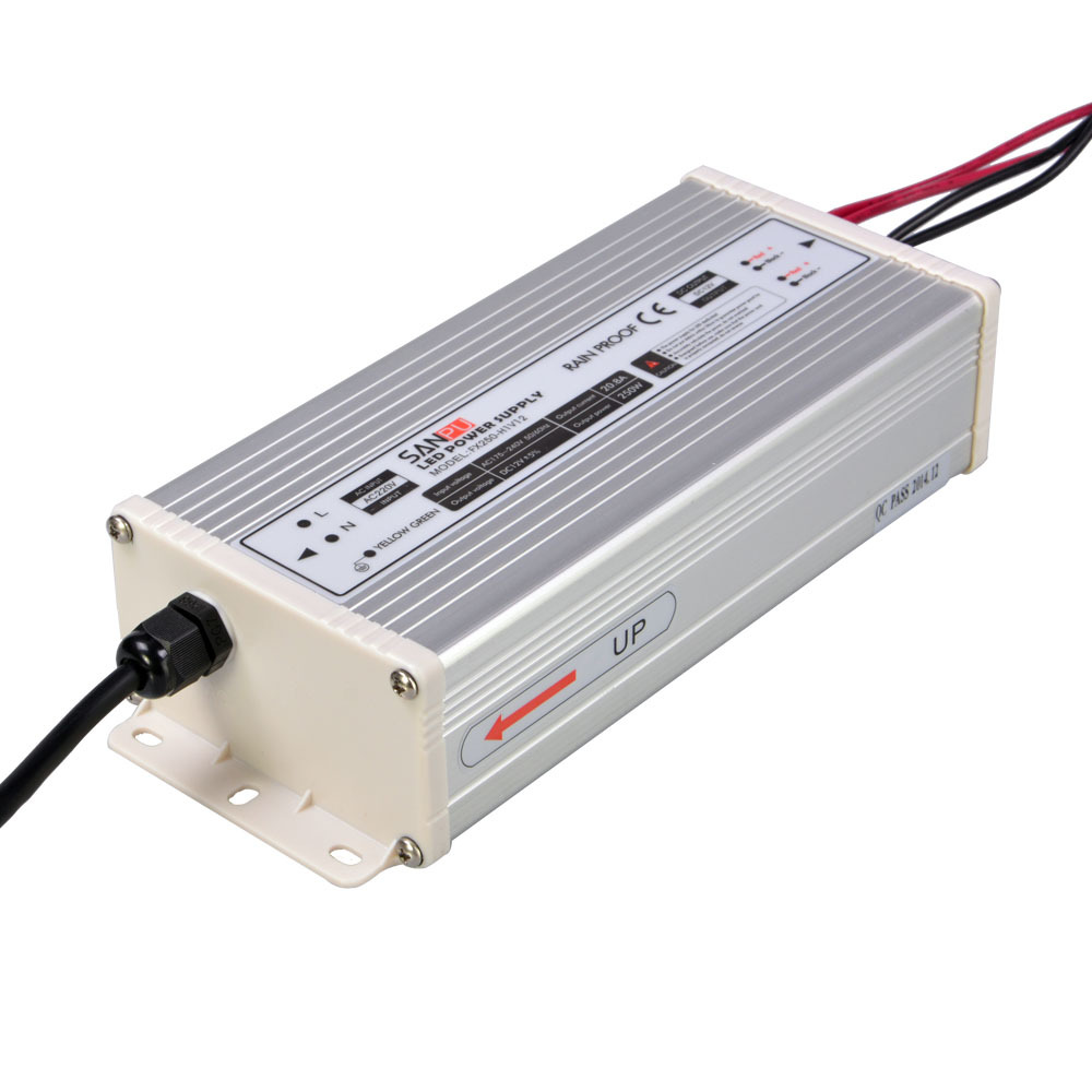 SMPS SANPU 250w 12v led power supply 20.83a ip63 transformer 220v 12v constant voltage led driver