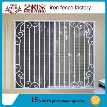 2016 simple morden wrought iron window grills designs for Steel window design 2016