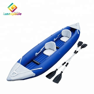 LANAO new design high quality pvc family entertainment equipment water float toys rowing boat inflatable kayak