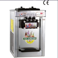 22L Stainless Steel Countertop 220V Electric 3 Flavor Soft Ice Cream Machine with R404 Refrigerant