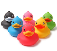 Promotion item bath duck baby small duck toy, multicolor rubber toy