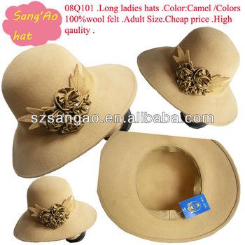 668ec27b2615 Wholesale Big Brim Carnival Wool Felt Fabric Hat - Buy Wool Felt ...