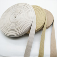 Natural color custom cotton flat fabric bag handle strap