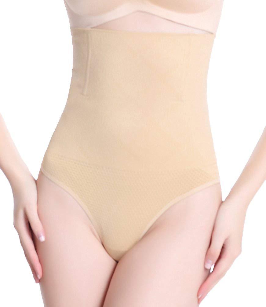 e8e98b911f Get Quotations · DODOING Women s Hi Waist Shapewear Tummy Shaper Slimmer  Thong Panty Underwear