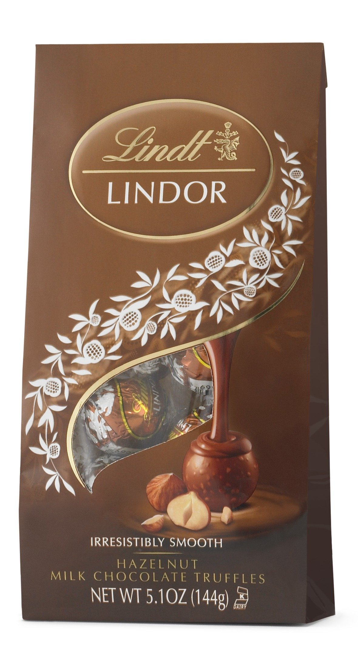 Lindt LINDOR Hazelnut Milk Chocolate Truffles, 5.1 Ounce