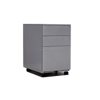 Office 3 drawer movable colorful pictures steel filing cabinet