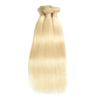 color 613 straight blonde Peruvian virgin hair 10-30 inch,raw unprocessed,remy hair bulk