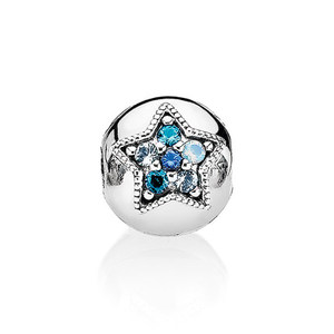 Cheap Custom Bright Star Clip Multi Colored Crystals Sterling Silver Christmas Gift Charm Beads Jewelry
