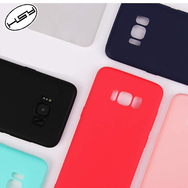 HUYSHE Cell Phone Cases Manufacturer Soft Frosted Matte TPU Phone Case for Samsung Galaxy S8 Cover Silicone Premium