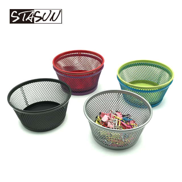 STASUN 3.5 inch dia Bureau organizer Metal Mesh Pen Potlood Collection Houder