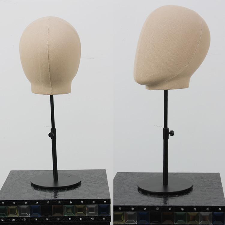 HIgh product window display cloth wrapped fabric white color female mannequin head