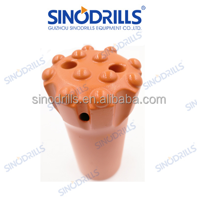 R28 quarrying round button bit with nornal skirt for hard rock drilling