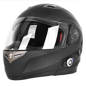 DOT double visor flip up motorcycle helmet with 500m 1000m 1500m built in bluetooth