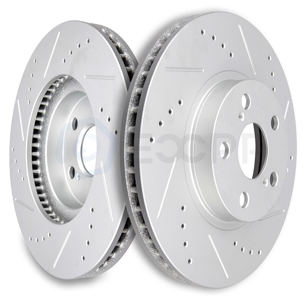 Front OE Brake Calipers And Rotors Pads For Vibe Scion TC Toyota Matrix Rav 4