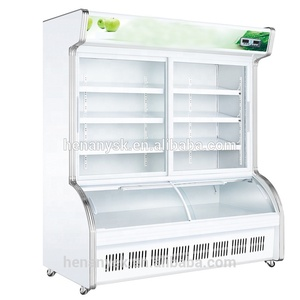 Cold Food Display Refrigerator 2 Glass Door Defrost Freezer Upright for Fruit and Vegetables China Manufacturer