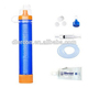 wholesale portable water filter camping ABS emergency tube with activated carbon