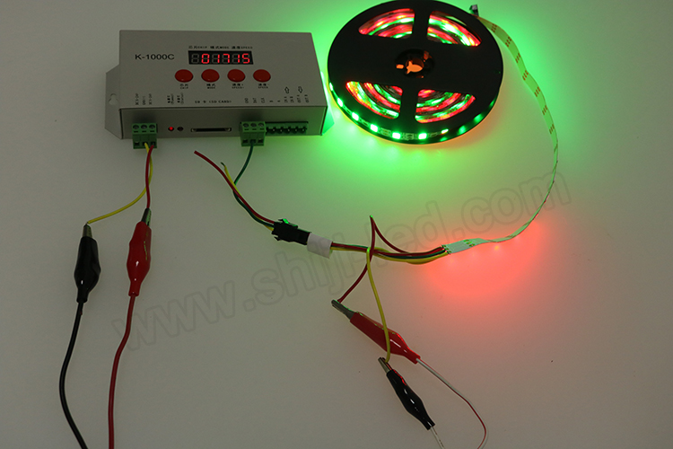 RGB Flashing pixel strip led light controll K1000C led sd card dmx controller