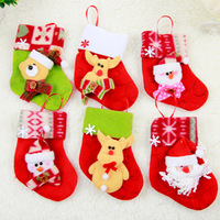 Christmas Tree Accessories Small Xmas Stocking Hanging Decorations