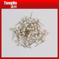 Decorative 17mm Pearl Silver Color Round Ball Head Hijab Pin